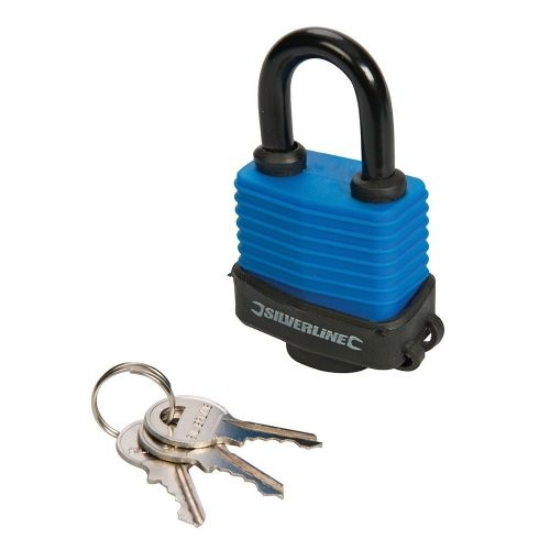 Silverline 196551 Weather Resistant Padlock 48mm
